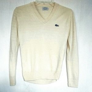 Izod Sweaters - RARE IZOD LaCoste V-Neck Cream Sweater